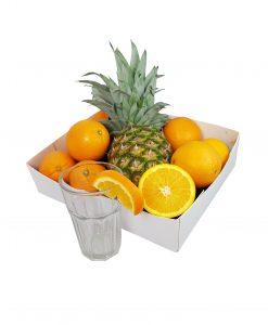 Fruitbox sinaasappels fruitmand smoothie Suriname