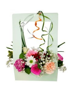 Boeket roze bloemen bezorgen Suriname